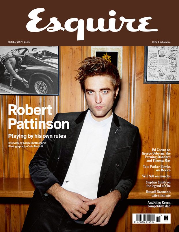 Robert Pattinson is the Cover Boy of Esquire UK October 2017 Issue (6 pics)