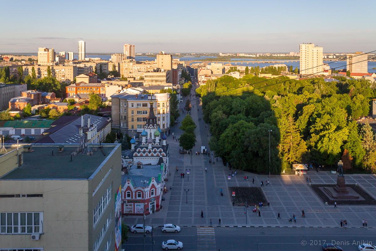 Улица Волжская с высоты фото 1
