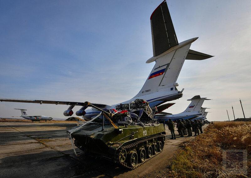 Масштабное тактическое учение ВДВ в Приморском крае