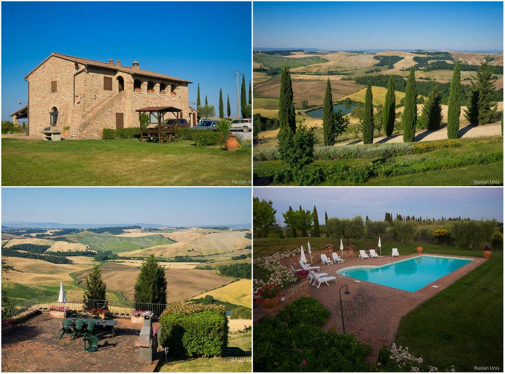 Идеальный агритуризмо в Италии - Тоскана, дом на холме и бассейн