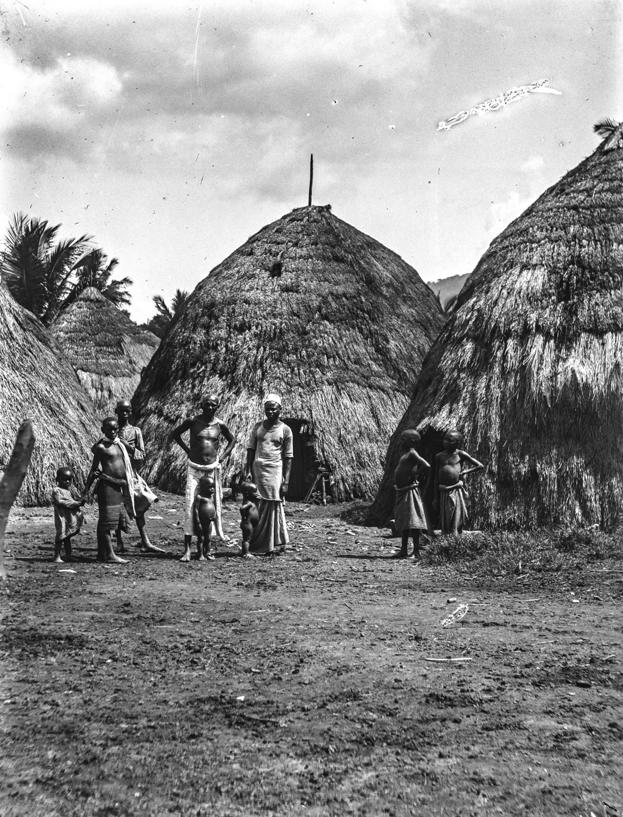 111. Деревня васигуа с соломенными крышами