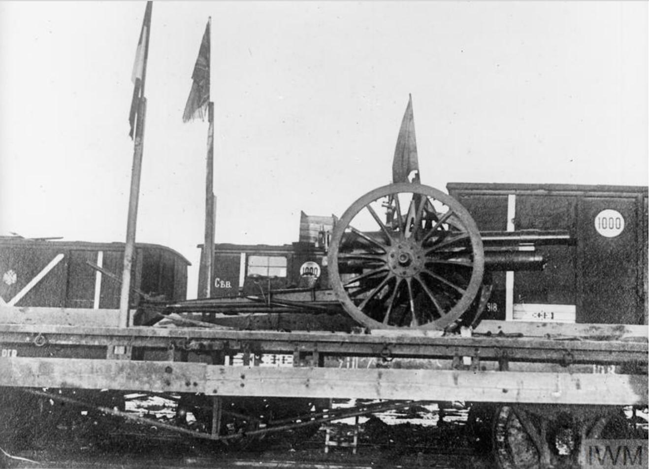 Орудие Красной Армии, захваченное англичанами. 1919