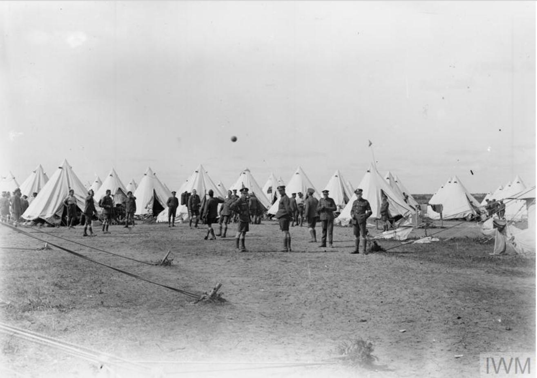 Палаточный лагерь Королевских стрелков. 1919