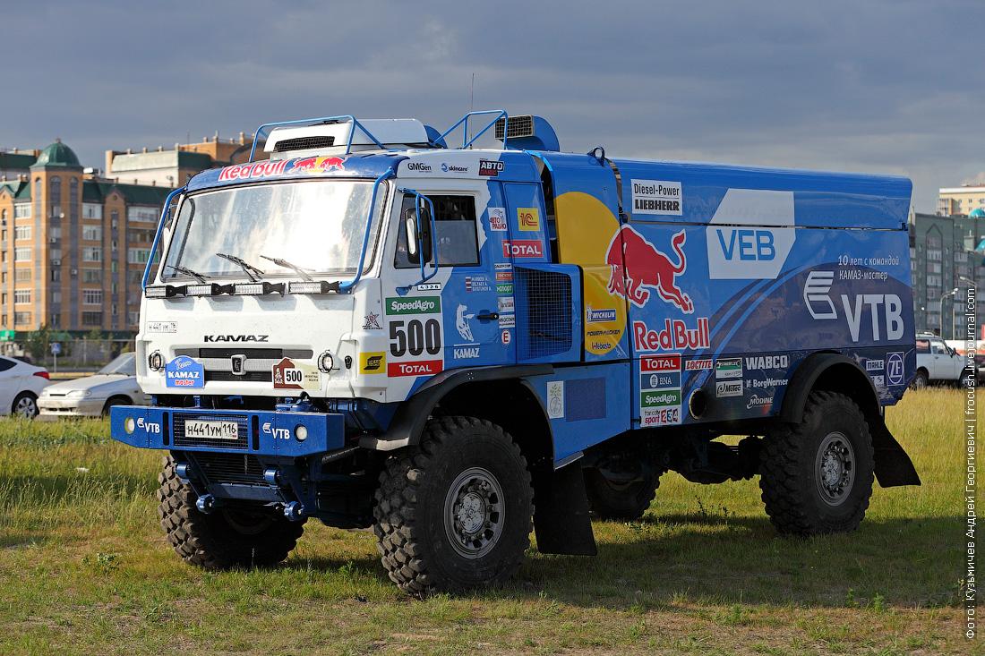 фото боевой грузовик команды КАМАЗ-мастер