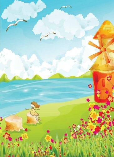 Лето вертикальные картинки для детей