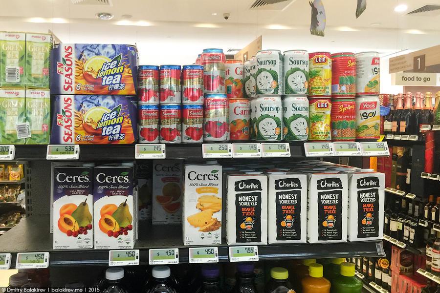 11. Соки стоят дороже, чем в челябинских магазинах. За литр ананасового нектара просят 180 рублей. К