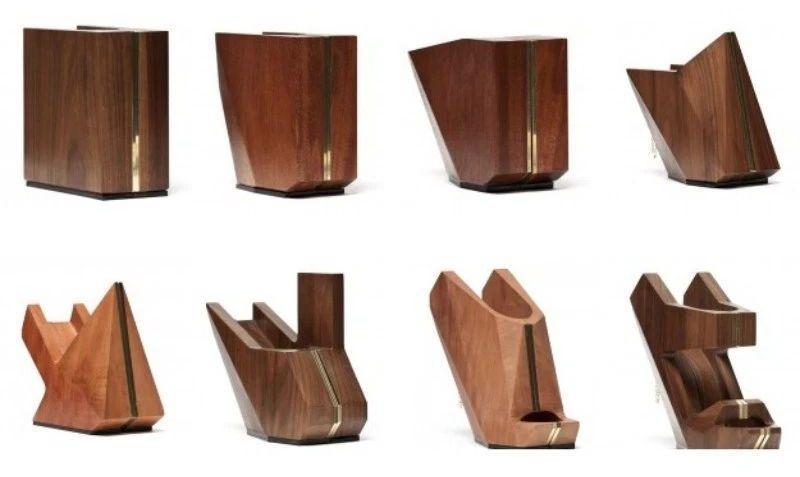 18. Коллекция обуви из дерева.