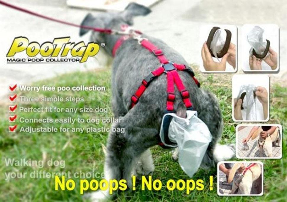 Или вот эта штучка. Собаки с этой ловушкой для какашек становятся еще опаснее.