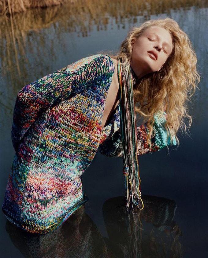 Фредерика Софи в рекламной кампании Missoni