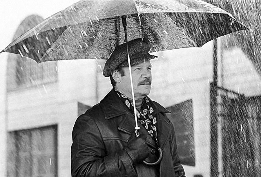 Киноактер Михаил Пуговкин во время съемок фильма «Ах, водевиль, водевиль», 1979 год. Фото Николая Ма