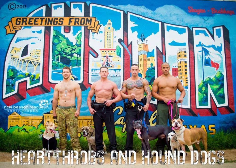 Горячие парни изТехаса нашли оригинальный способ помочь бездомным собакам обрести семью (8 фото)