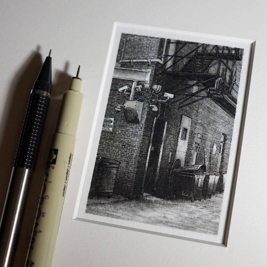 Impressive Detailed Miniature Black and White Drawings (8 pics)