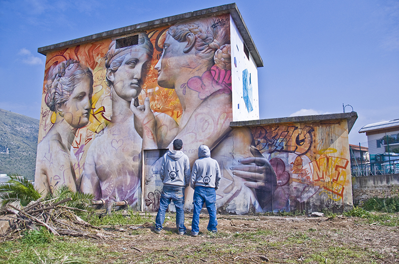 Mural in Fondi-Italy, image by Arianna Barone