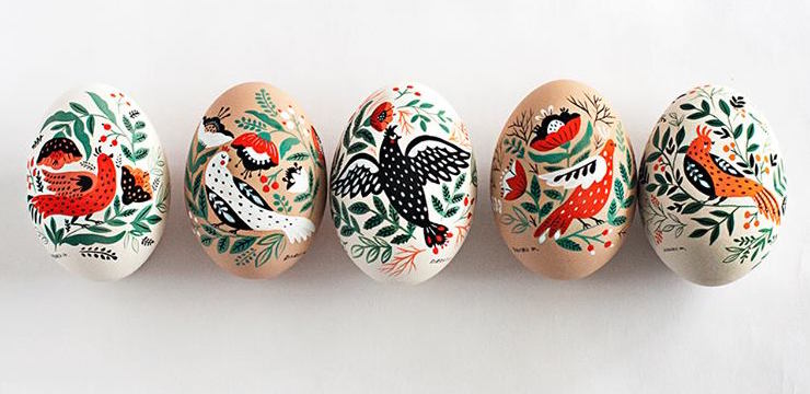 Original Birds Paintings on Easter Eggs (8 pics)