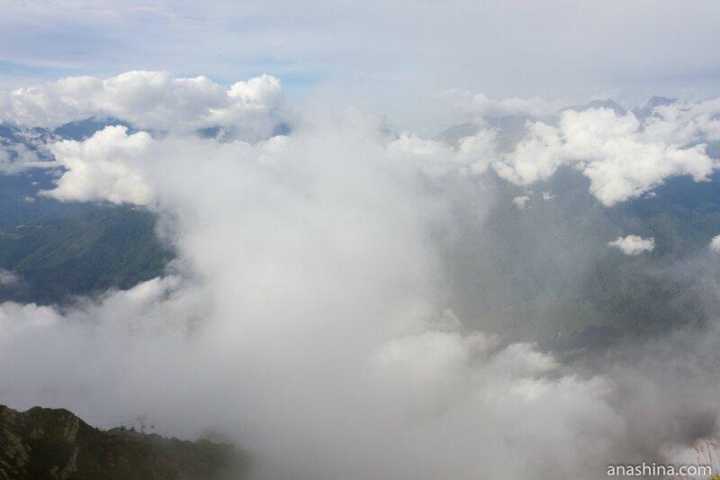 Облака и горы, Роза Хутор, Красная Поляна
