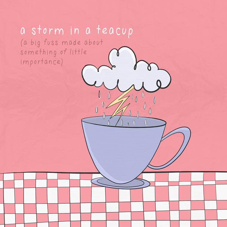 The English idioms explained with some cute and funny illustrations