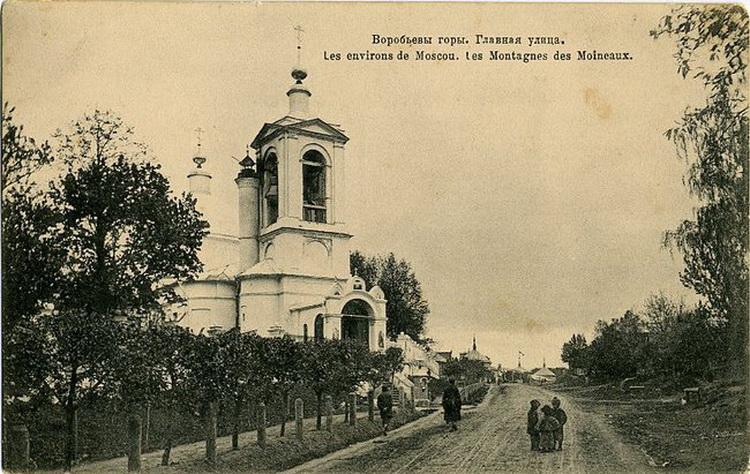 79234 Воробьевы горы. Главная улица 1900-е.jpg