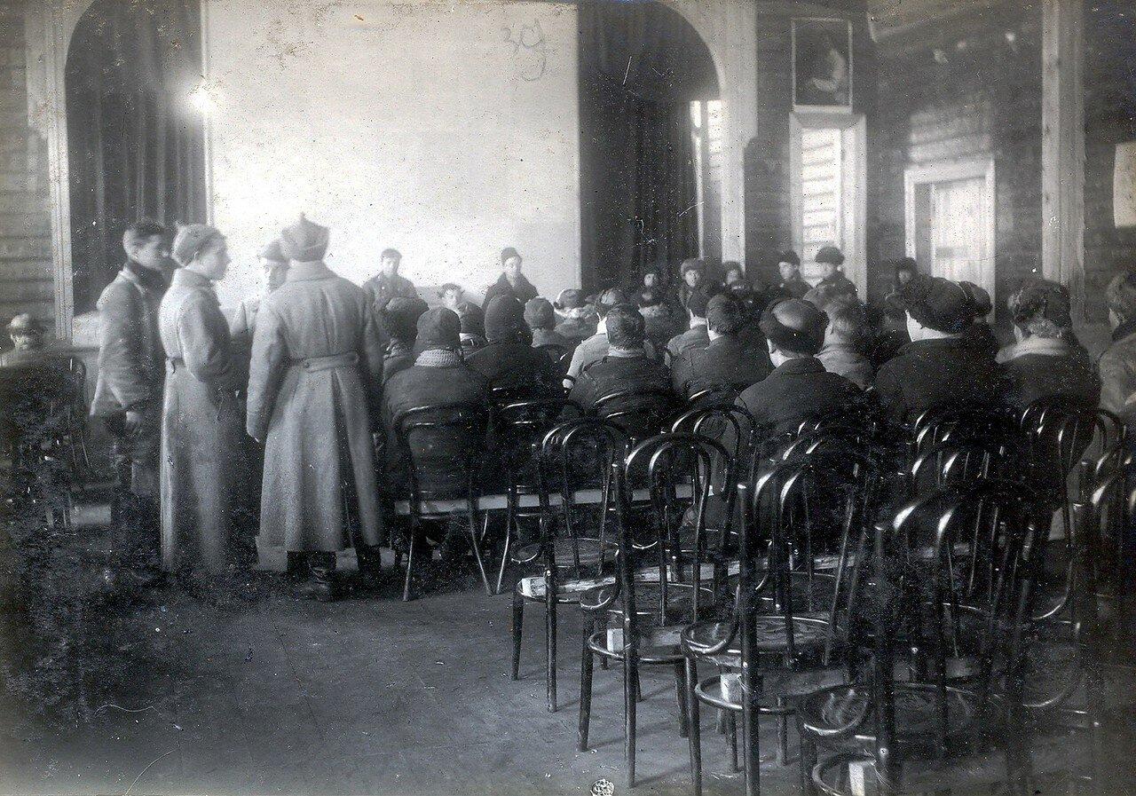 1930-е. Общий зал клуба на Октябрьском Поле