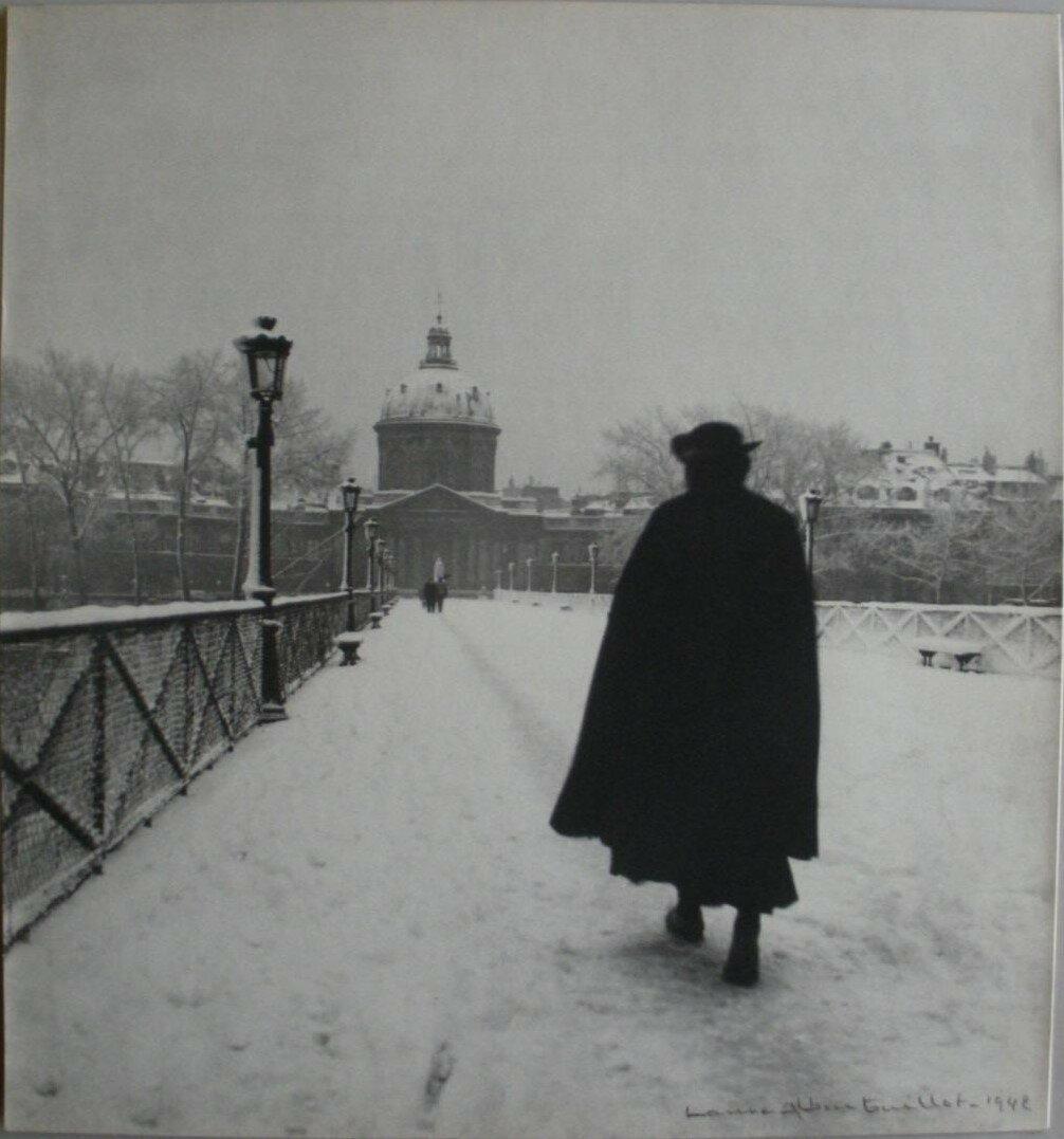 Пон де Арт в снегу