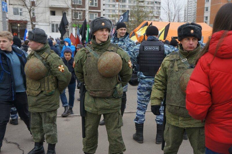 Русский марш - 4 ноября 2017 в Люблино-Марьино