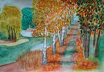 Аббасова Авелина (рук. Барышева Наталья Николаевна) - Осенняя прогулка
