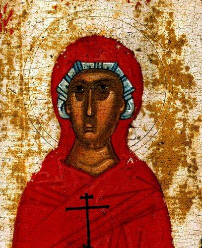 Святая Великомученица Параскева Пятница. Фрагмент иконы новгородской школы начала XV века.