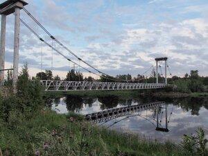 Ильинский, пешеходный мост через Олонку