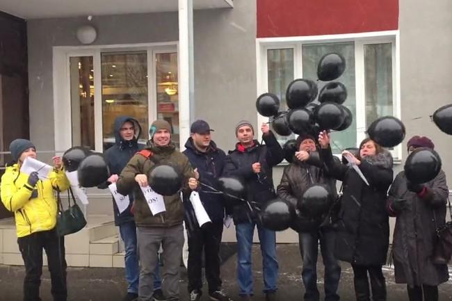 Обманутые дольщики написали обращения В. Путину и запустили шары с запиской «Путин, SOS!»