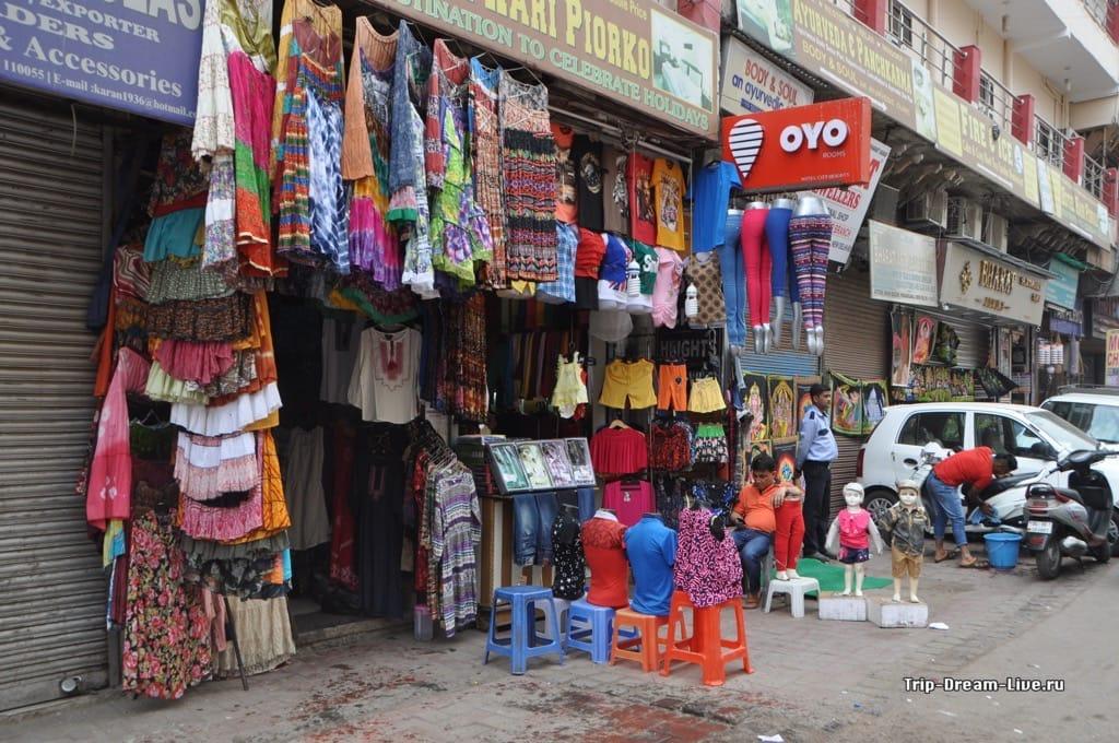 Улица Main Bazar в Дели