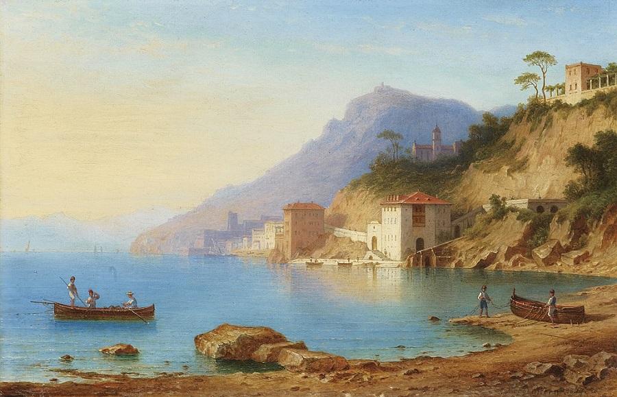 Blick auf die Küste von Amalfi