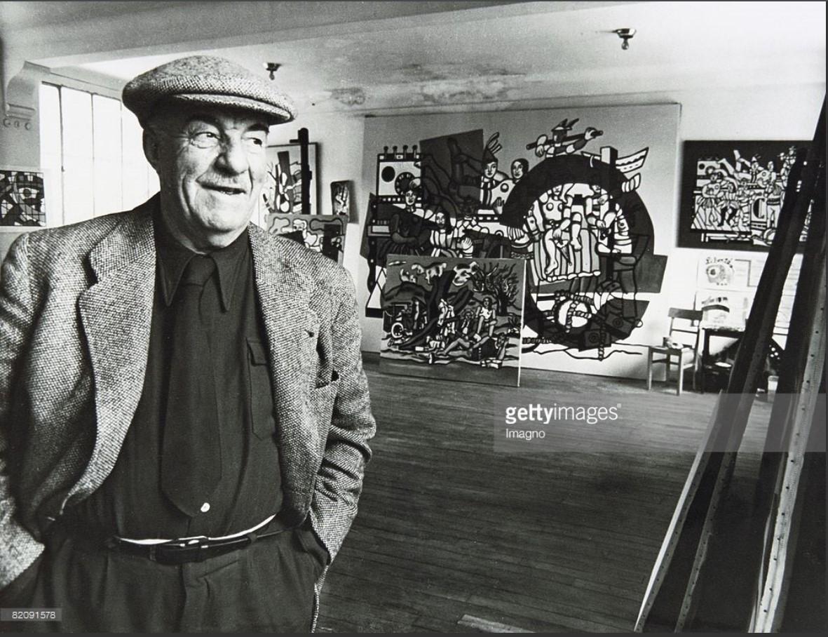 1950. Фкернан Леже в своей студии