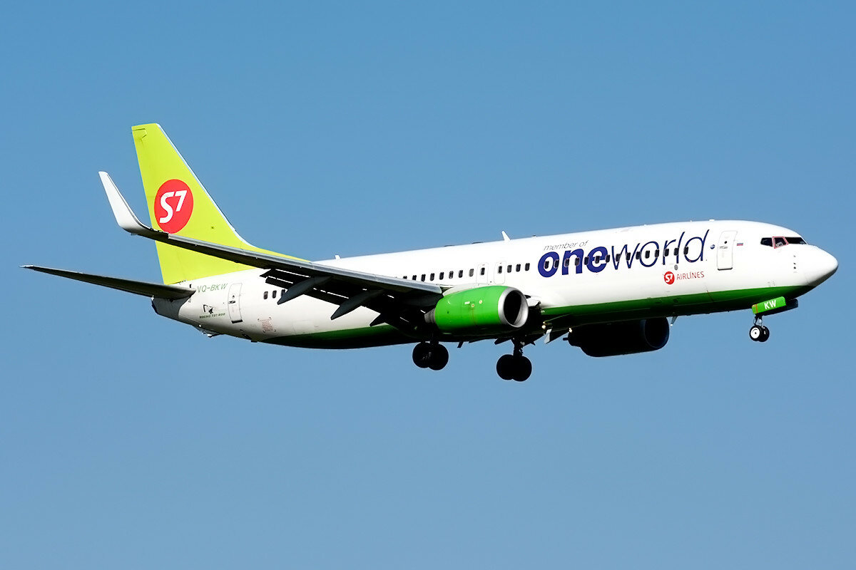Boeing 737-8ZS S7 Airlines. VQ-BKW.