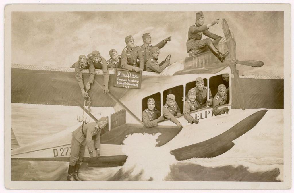 1938 год. «Обзорный полет — воздушная база в Фасберге — Мюнстер — Гамбург, 1938». Мюнстер, Германия.