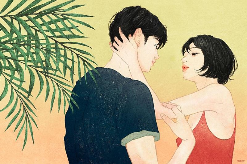 Эта корейская художница так тонко изображает любовь, что ты и сам ее ощущаешь