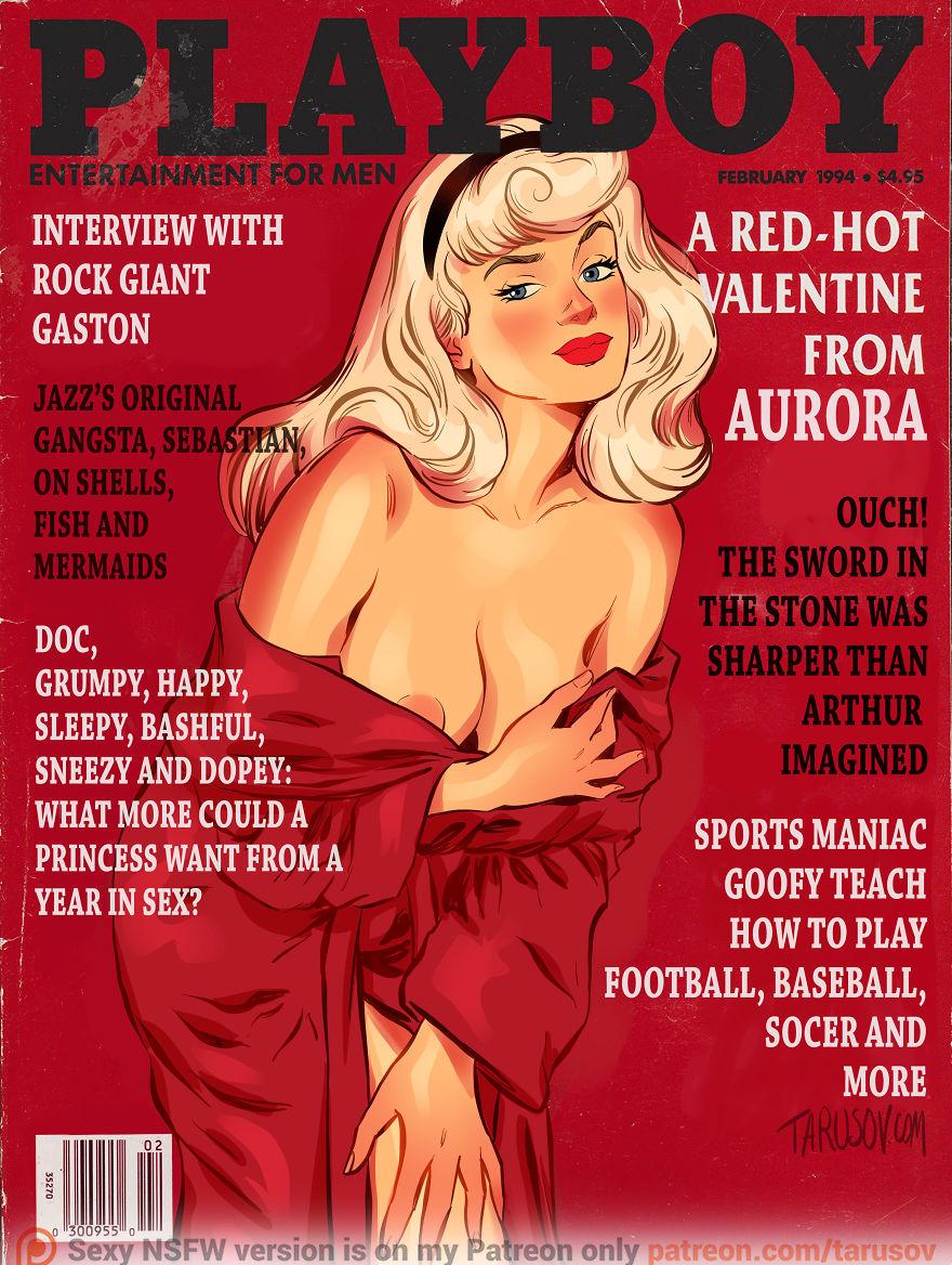 Диснеевские принцессы попали в обложки Playboy