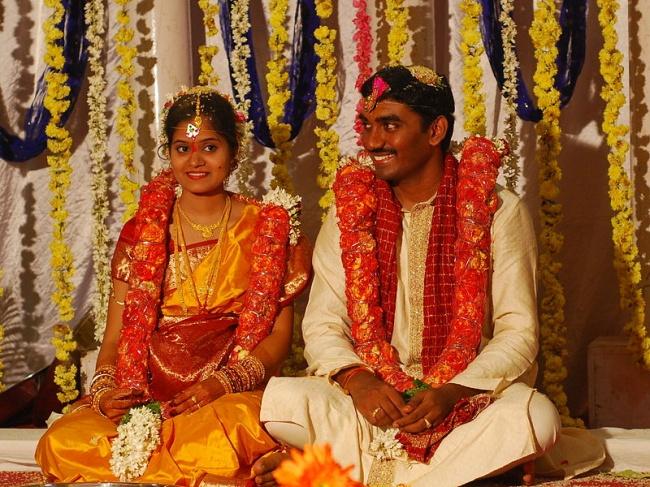 © wikimedia     Всего 1из100 браков вИндии заканчивается разводом , иэто один изсамы