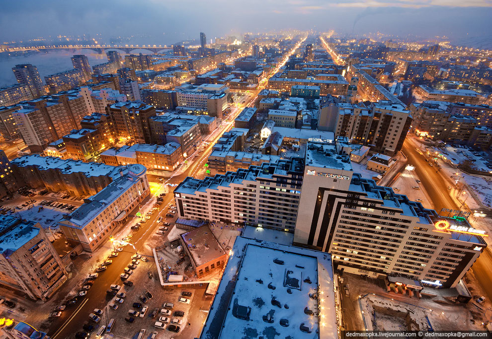 Центральная часть города. Проспект Мира. (Фото Виталия Раскалова):