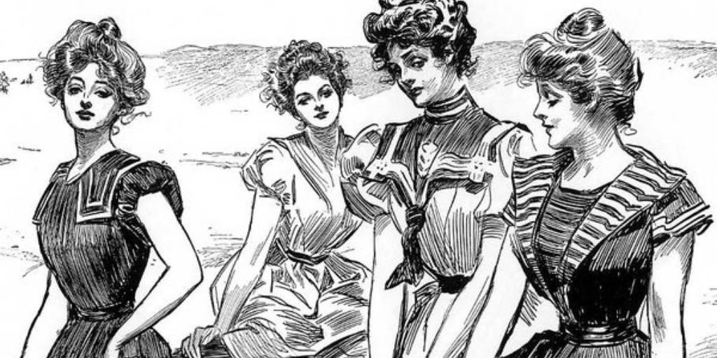 Pin-up girls Бетти Грейбл пин-ап Чарльз Дана Гибсон