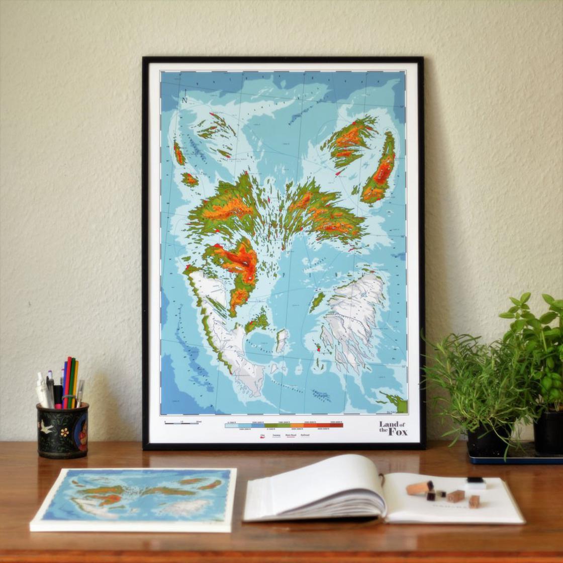 Mappa Animalia – Beautiful fictional maps paying tribute to animals