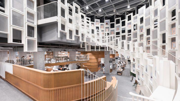 Kokaistudios  designed for Alt-Life Bookstore in Ningbo celebrates space fluidity an
