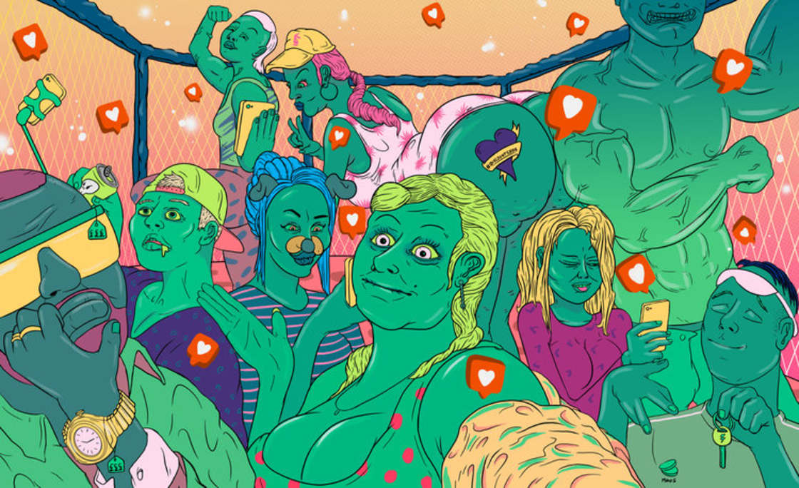 O universo explosivo das ilustracoes de Mike Hughes
