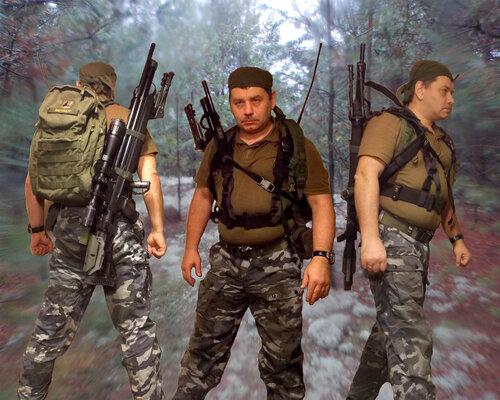 размещение винтовки с экипировкой на теле