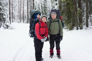 Пешие походы зимой с палаткой и ребенком 2.5 года