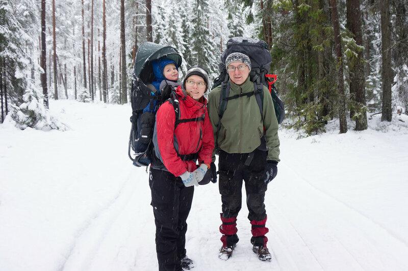 пеший поход с ребенком зимой