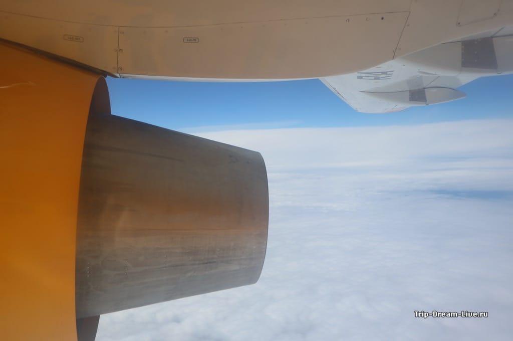 Вид из иллюминатора Ан-148
