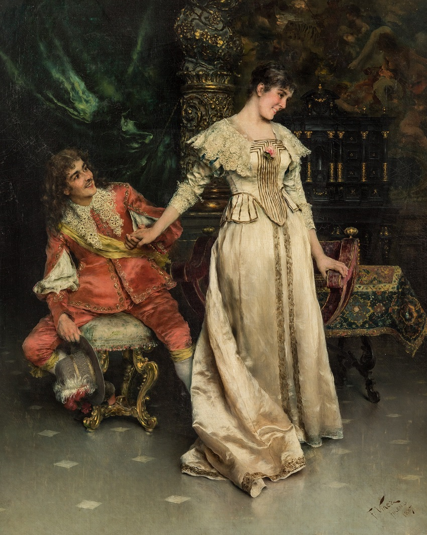 Paintings of Courting Couples , 1887