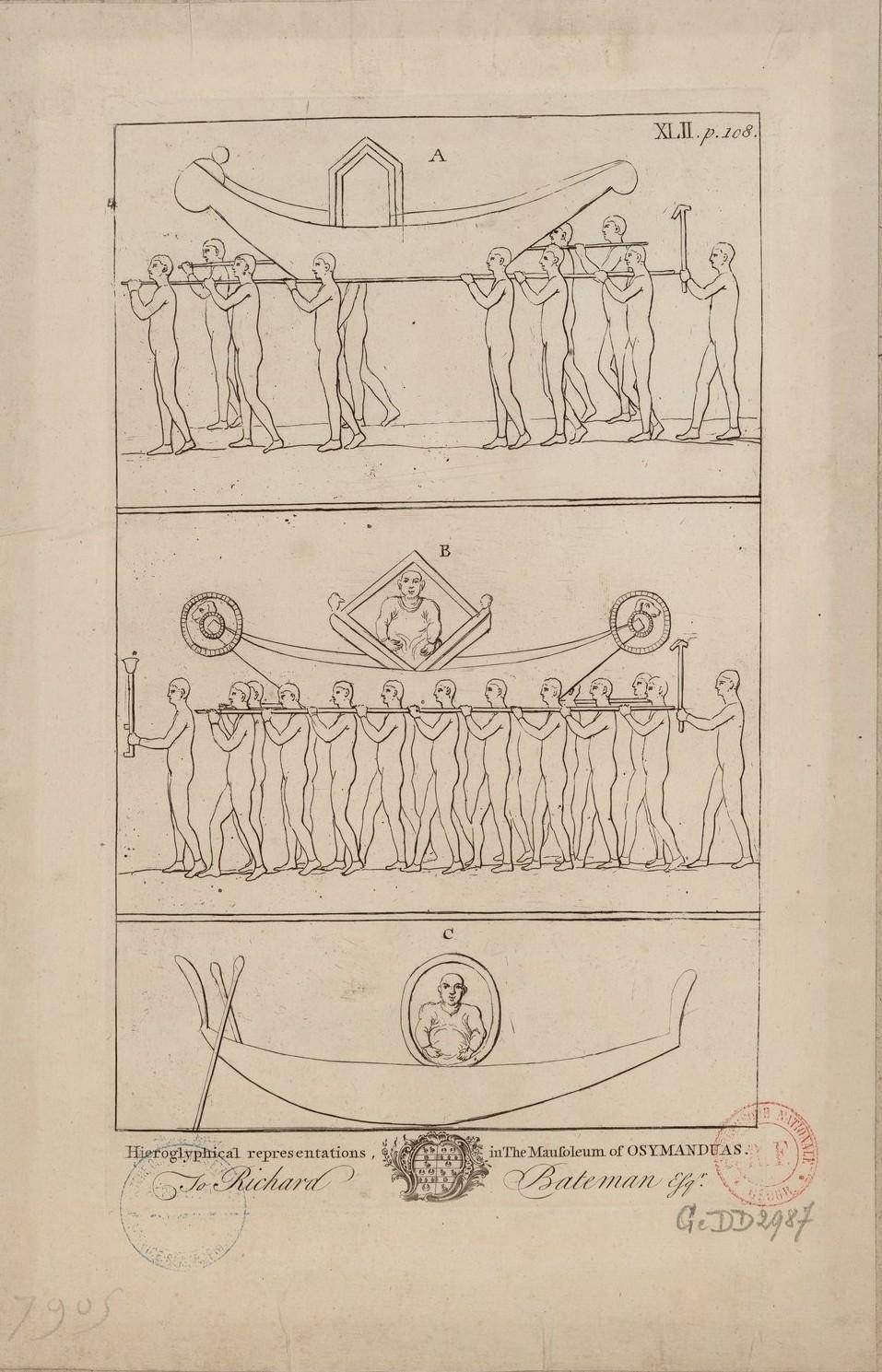 Иероглифические изображения в гробнице Озимандия