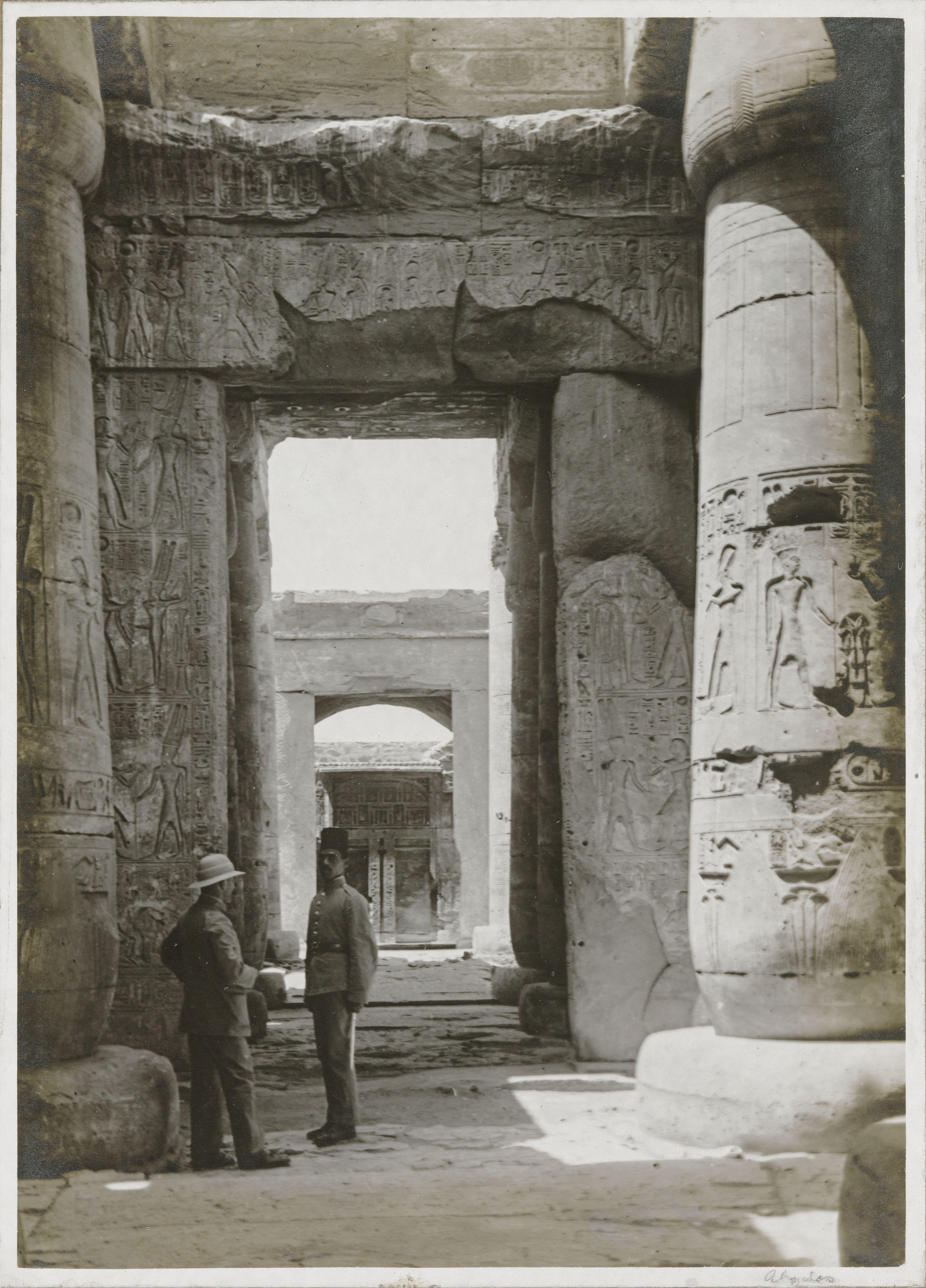 Абидос. Поминальный храм Сети I. Вид из первого зала