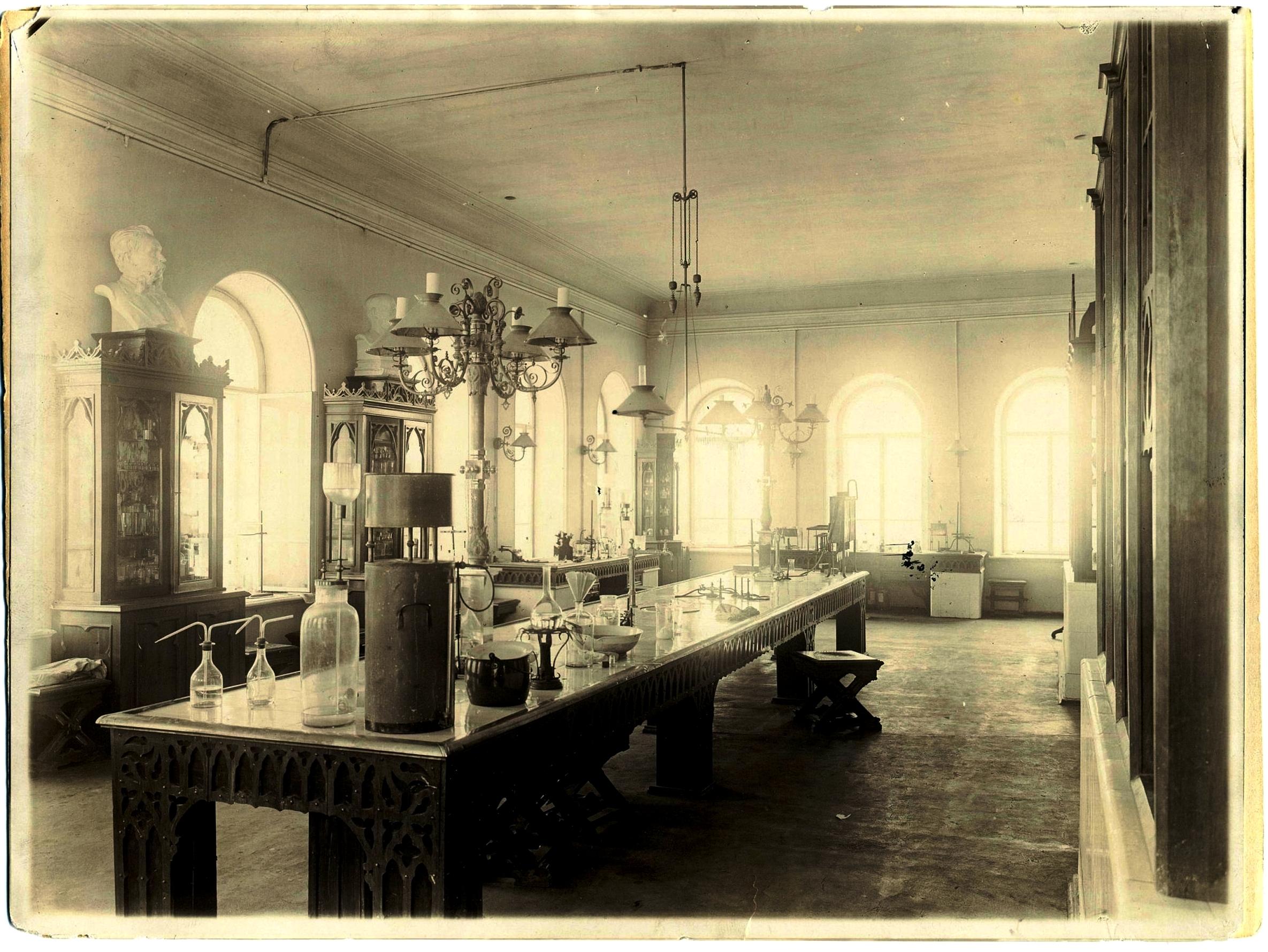 Химическая лаборатория Бутлерова Императорского университета. 1896