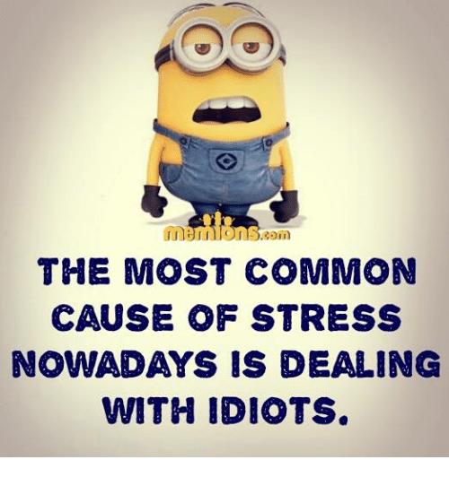 Идиоты — причина стресса!